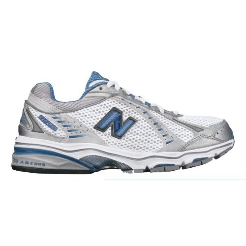 Womens New Balance 1223 Running Shoe - White/Blue 6