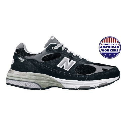Womens New Balance 993 Running Shoe - Black 7