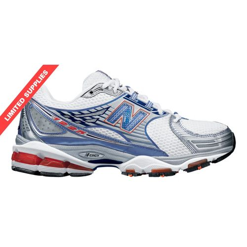 Womens New Balance 1225 Running Shoe - White/Blue 7.5