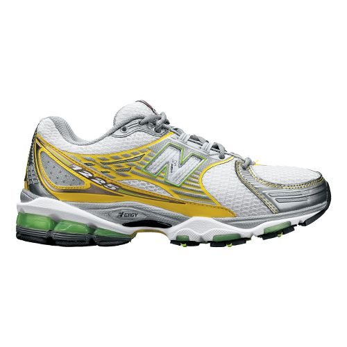 Womens New Balance 1225 Running Shoe - White/Yellow 7.5