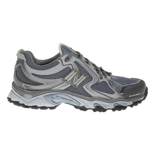 Womens New Balance 910 Trail Running Shoe - Grey/Blue 10.5