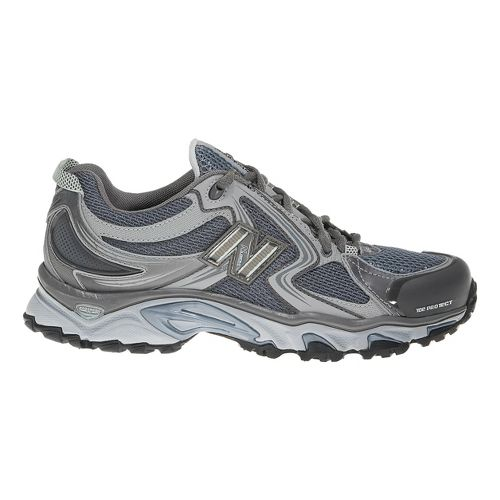 Womens New Balance 910 Trail Running Shoe - Grey/Blue 8.5