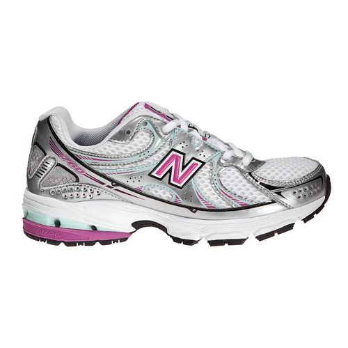Kids New Balance 760 Running Shoe - White/Purple 3.5