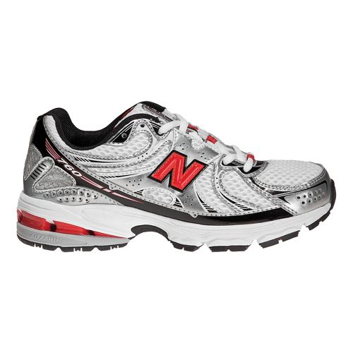 Kids New Balance 760 Running Shoe - White/Red 3.5