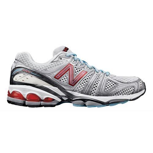 Womens New Balance 1080 Running Shoe - White/Red 10