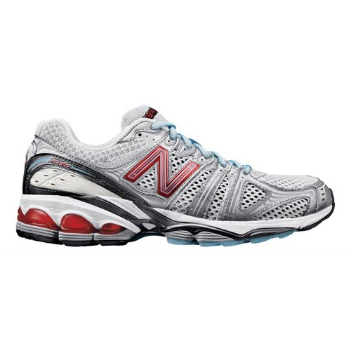Womens New Balance 1080 Running Shoe - White/Red 8