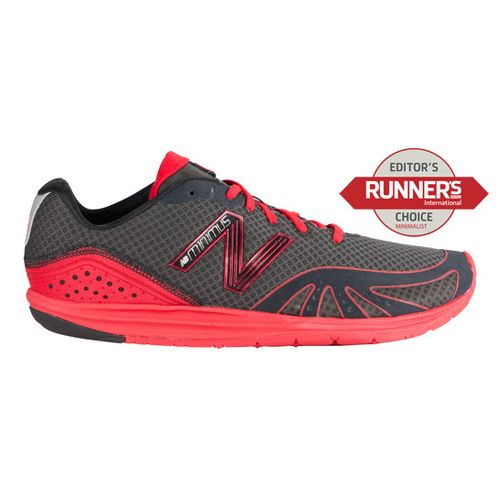 Mens New Balance Minimus 10 Road Running Shoe - Black/Red 11