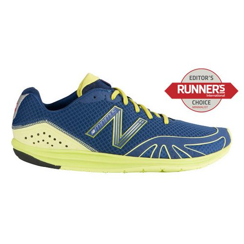 Mens New Balance Minimus 10 Road Running Shoe - Blue/Lime 8.5