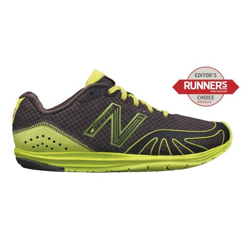 Womens New Balance Minimus 10 Road Running Shoe - Black/Lime 7.5