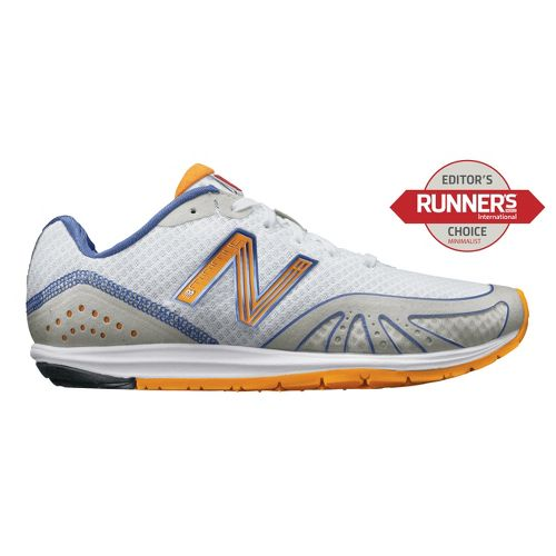 Womens New Balance Minimus 10 Road Running Shoe - White/Orange 6