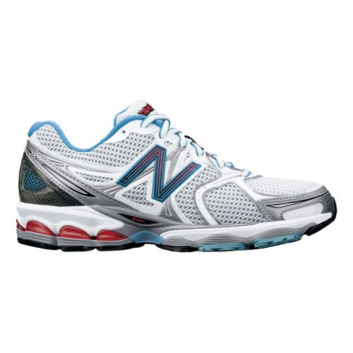 Womens New Balance 1260 Running Shoe - White/Blue 10.5