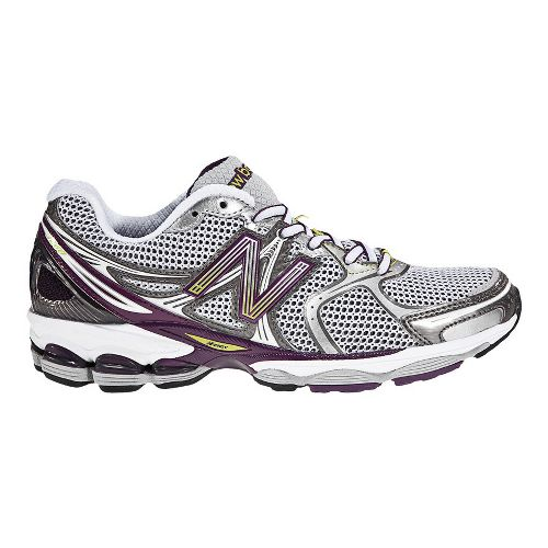 Womens New Balance 1260 Running Shoe - White/Purple 7.5
