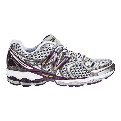 Womens New Balance 1260 Running Shoe - White/Purple 8.5