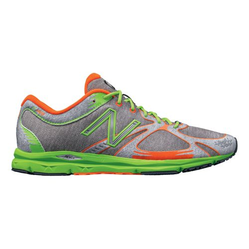 Mens New Balance 1400 Running Shoe - Heather Grey/Green 12.5