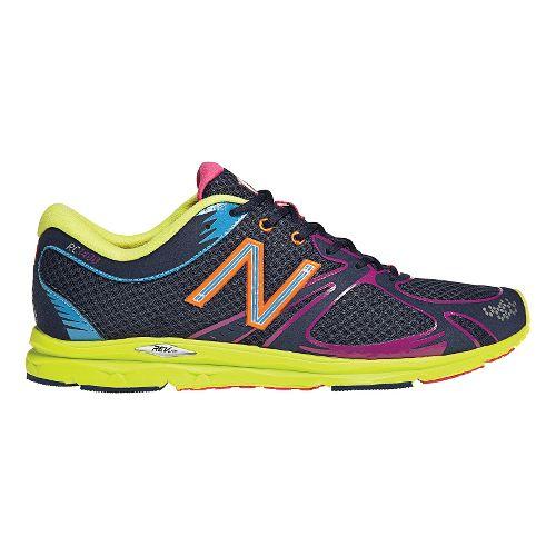 Womens New Balance 1400 Running Shoe - Navy/Lime 7
