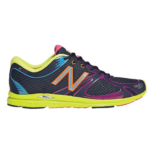 Womens New Balance 1400 Running Shoe - Navy/Lime 7.5