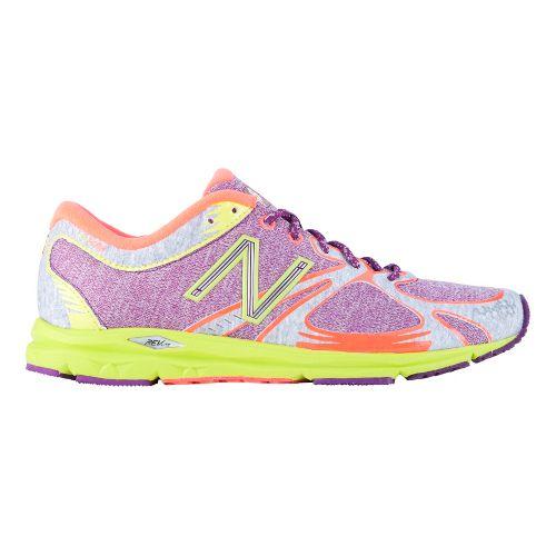 Womens New Balance 1400 Running Shoe - Purple/Hi-Viz Yellow 11.5