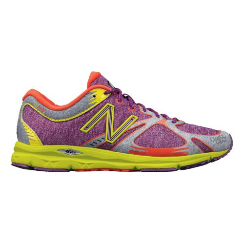 Womens New Balance 1400 Running Shoe - Purple/Yellow 6.5