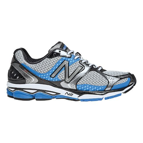 Mens New Balance 1080v2 Running Shoe - Grey/Blue 12.5