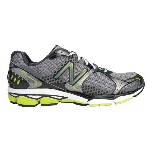 Mens New Balance 1080v2 Running Shoe - Grey/Green 12.5