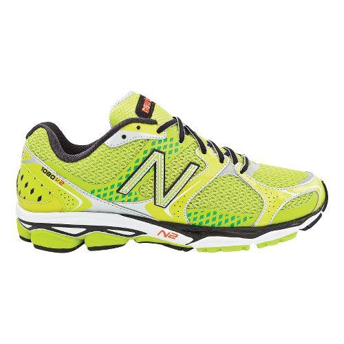 Mens New Balance 1080v2 Running Shoe - Neon Lime 14