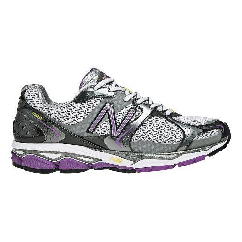 Womens New Balance 1080v2 Running Shoe - Grey/Purple 7.5