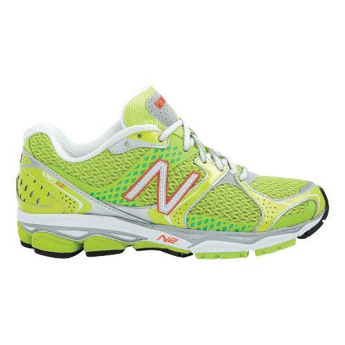 Womens New Balance 1080v2 Running Shoe - Neon Lime 6