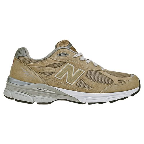 Mens New Balance 990v3 Running Shoe - Beige 12