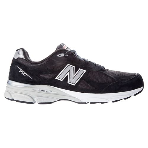Mens New Balance 990v3 Running Shoe - Black 12.5