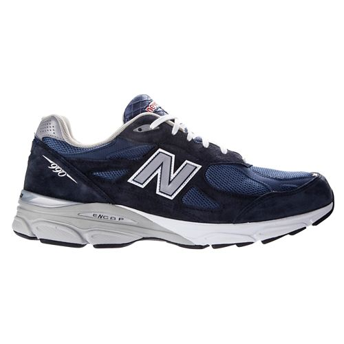 Mens New Balance 990v3 Running Shoe - Navy 6.5