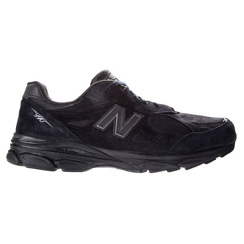 Womens New Balance 990v3 Running Shoe - Black/Black 10.5