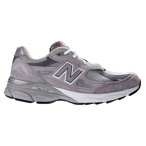 Womens New Balance 990v3 Running Shoe - Grey 8.5