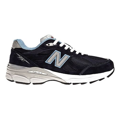 Womens New Balance 990v3 Running Shoe - Navy 9