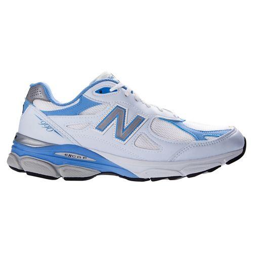 Womens New Balance 990v3 Running Shoe - White 11