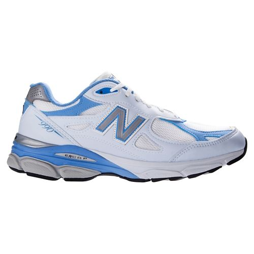 Womens New Balance 990v3 Running Shoe - White 12
