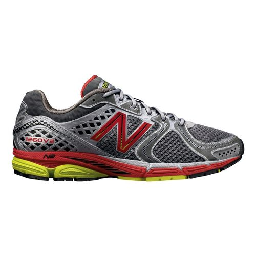 Mens New Balance 1260v2 Running Shoe - Grey/Red 10