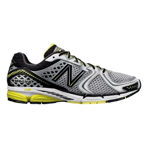 Mens New Balance 1260v2 Running Shoe - White/Black 9