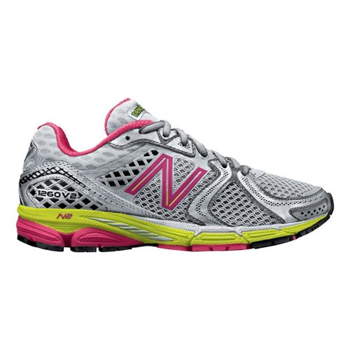Womens New Balance 1260v2 Running Shoe - Grey/Raspberry 7.5