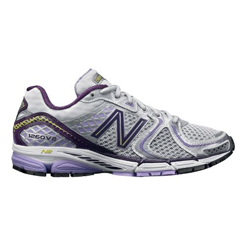 Womens New Balance 1260v2 Running Shoe - White/Lavenish 10