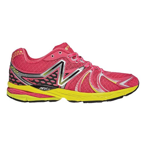 Womens New Balance 870v2 Running Shoe - Raspberry/Lime 7