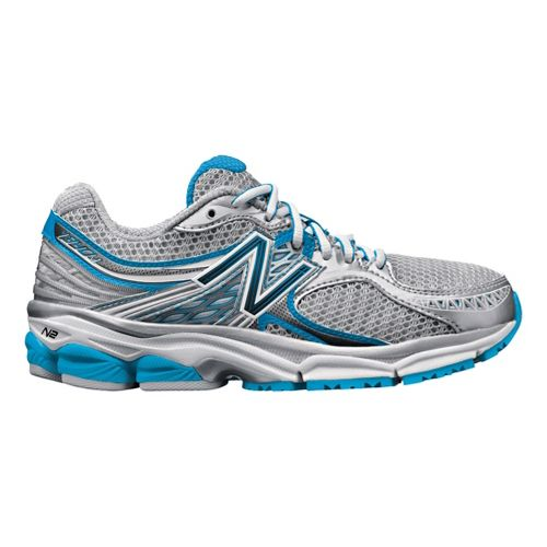 Womens New Balance 1340 Running Shoe - Silver/Light Blue 5.5