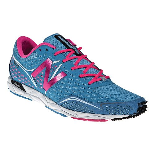 Womens New Balance 1600 Racing Shoe - Aqua/Pink 8.5