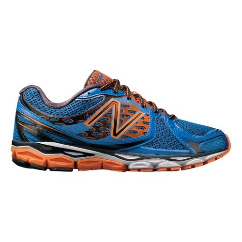 Mens New Balance 1080v3 Running Shoe - Blue/Orange 11.5
