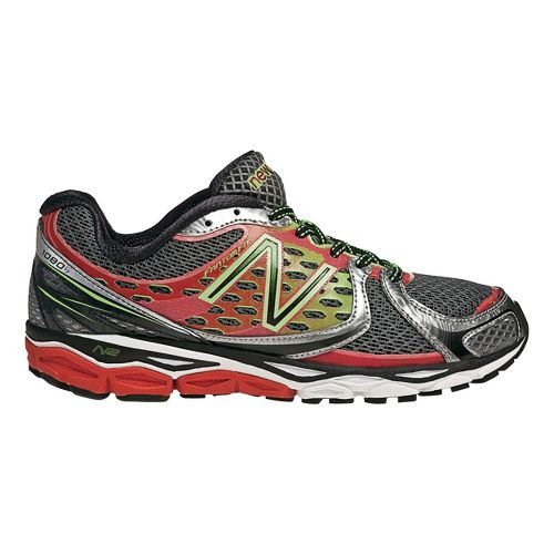 Mens New Balance 1080v3 Running Shoe - Red/Green 12.5