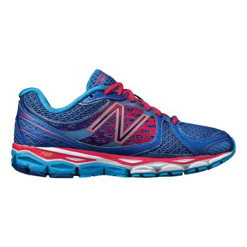 Womens New Balance 1080v3 Running Shoe - Blue/Pink 10