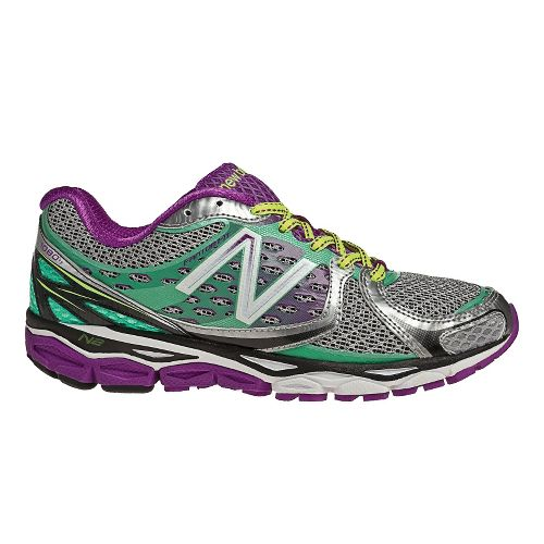 Womens New Balance 1080v3 Running Shoe - Silver/Purple 5