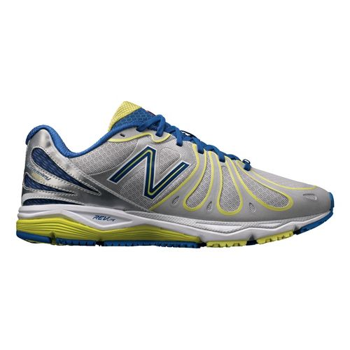 Mens New Balance 890v3 Running Shoe - Silver/Navy 12.5