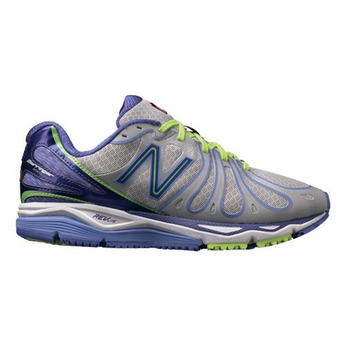 Womens New Balance 890v3 Running Shoe - Silver/Purple 6.5