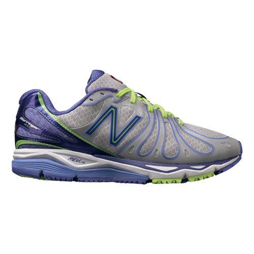 Womens New Balance 890v3 Running Shoe - Silver/Purple 9.5