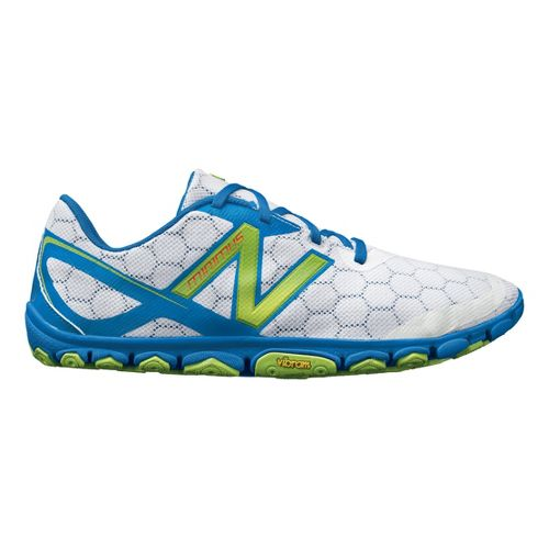 Mens New Balance Minimus 10v2 Running Shoe - White/Blue 10.5